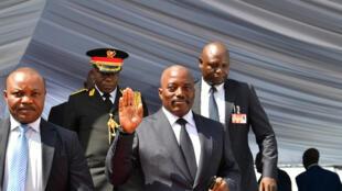 L'ancien président congolais Joseph Kabila, le 24 janvier 2019, lors de l'investiture de son successeur Félix Tshisekedi à Kinshasa.