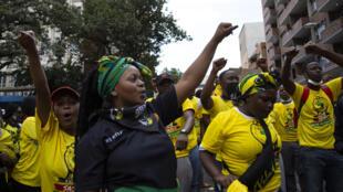 Afrique du Sud - Manifestations - étudiants - AP21069484567575