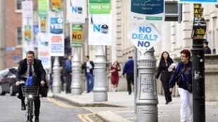 Centro de Dublín, Irlanda, donde los ciudadanos se pronuncian sobre el tratado fiscal.