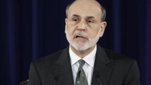 O presidente do Federal Reserve, Ben Bernanke, anuncia o novo programa de estímulo à economia, em Washington, em 13 de setembro de 2012.