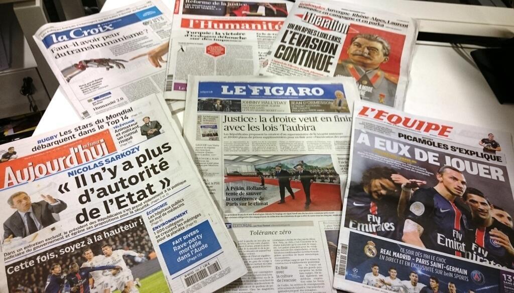Diários franceses 03/11/2015
