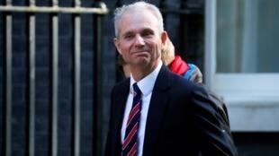 O vice-premiê britânico David Lidington em frente à Downing Street em Londres, em 1° de abril de 2019.
