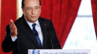 François Hollande a rappelé que 220 milions de personnes dans le monde parlaient français.