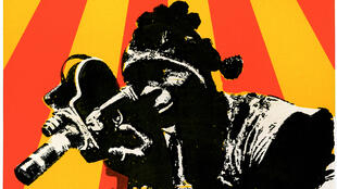 Affiche du film «1er festival de cinéma panafricain», documentaire de William Klein, racontant la 1ère édition du festival avec parmi les têtes d'affiche côté musique Miriam Makeba, Nina Simone et Archie Shepp.
