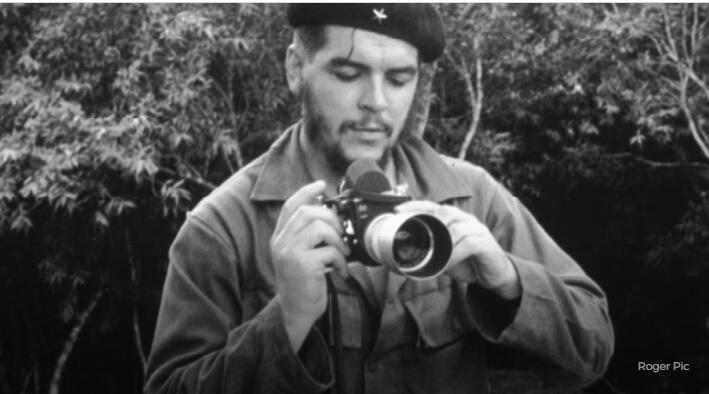 """Detalle de afiche de la exposición de la Alcaldía de París consagrada a Ernesto """"Che"""" Guevara."""