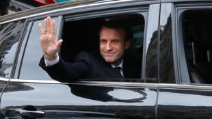 Emmanuel Macron tại Paris ngay sau khi đắc cử tổng thống Pháp ngày 07/05/2017.