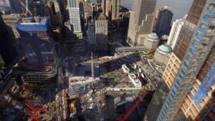 Le site de Ground Zero, à New York, où deux avions avaient percutés les tours du World Trade Center le 11 septembre 2001.