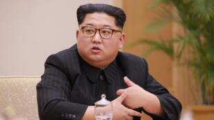 Le numéro un nord-coréen, Kim Jong-un, à Pyongyang en ce mois d'avril 2018.