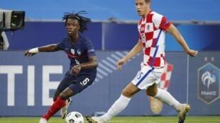 Le joueur français Eduardo Camavinga lors de la victoire de l'équipe de France face à la Croatie (4-2) au Stade de France, le 8 septembre 2020.