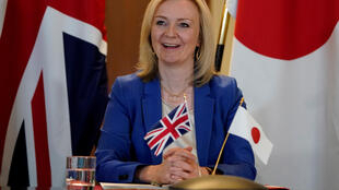 Didn't she do well? Britain's International Trade Secretary Liz Truss signed the bi-lateral trade deal with Japan Foreign Minister Toshimitsu Motegi during a video call on Friday.