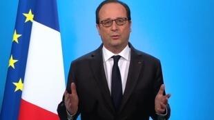 François Hollande durante pronunciamento nesta quinta-feira, 1° de dezembro