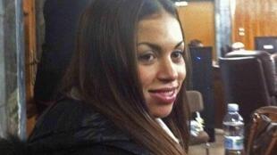 Karima el Mahroug, conhecida como Ruby, durante audiência em um tribunal de Milão.