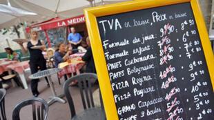 Restaurante de Caen, en el noroeste de Francia.