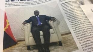 Reportagem da revista Jeune Afrique