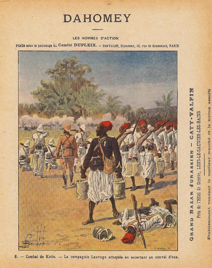 Dahomey - Combat de Kotto : la compagnie Lauvage attaquée en escortant un convoi d'eau