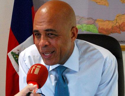 Le président haïtien Michel Martelly.