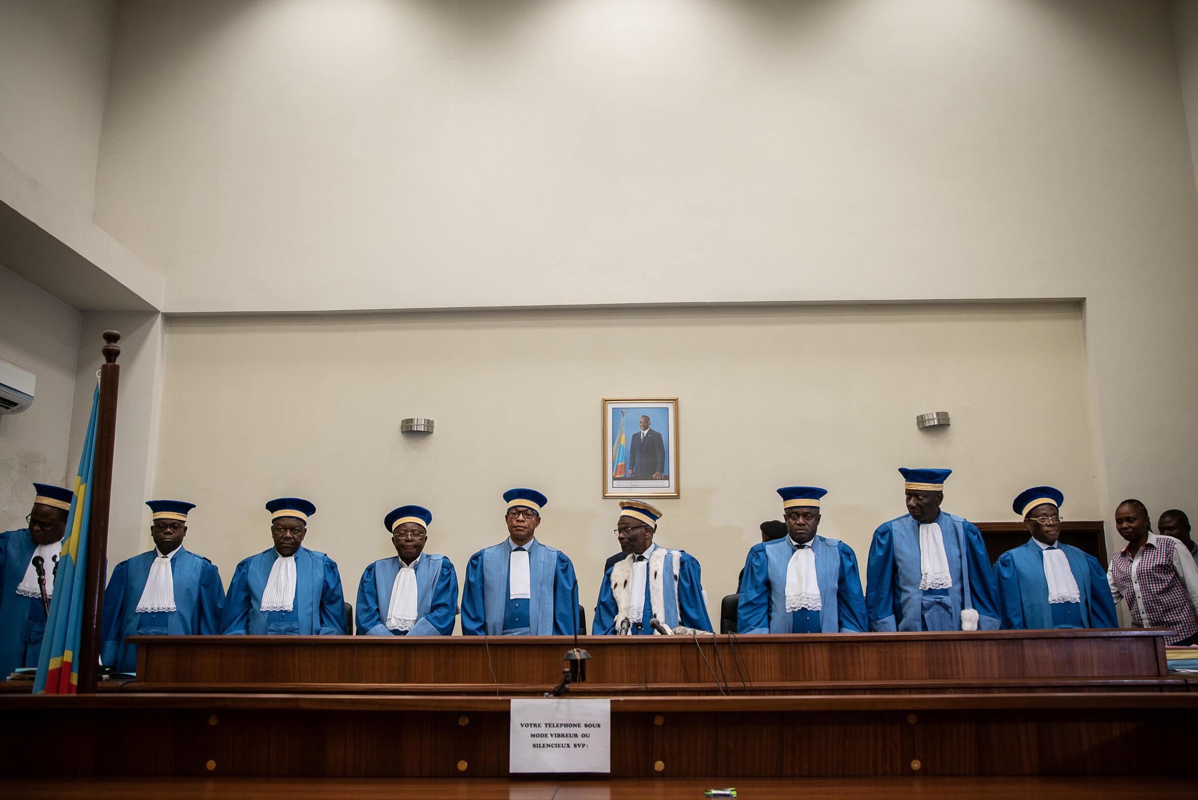 Majaji wa Mahakama ya Katiba ya DRC, Januari 2019.