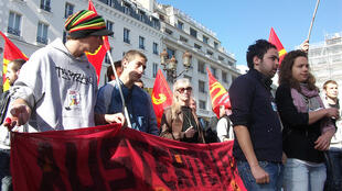 Protestors at the Paris Bourse, 15 October, 2011