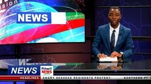 Screenshot of news programme broadcast on 9 February 2019 by Prime Television.