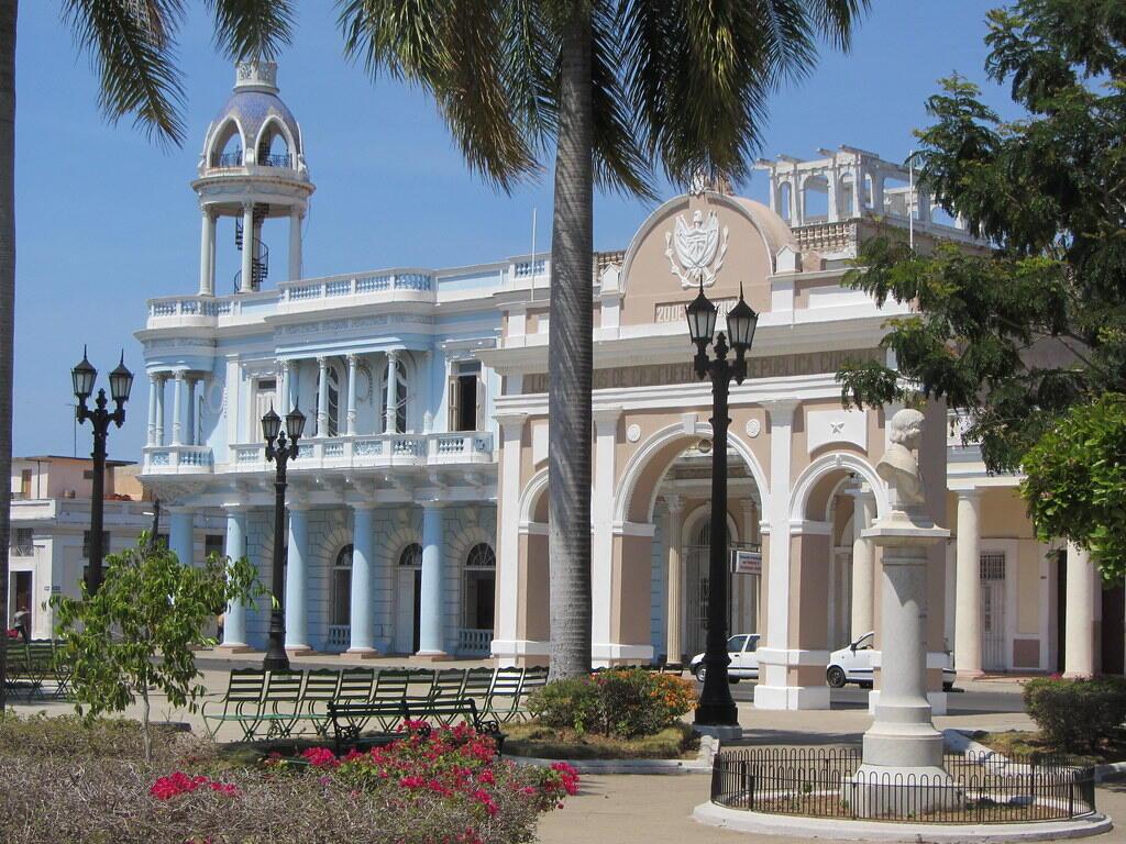 El parque Martí de Cienfuegos.