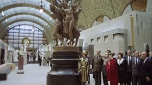 Giscard Mitterand Musée d'Orsay 1986