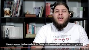 Capture d'écran de la chaîne YouTube Nota Bene et son auteur Benjamin.