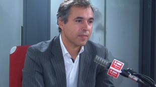 Frédéric Coirier, co-président du METI (Mouvement des entreprises de taille intermédiaire) et PDG du groupe Poujoulat dans les studios de RFI, le 4septembre 2020.