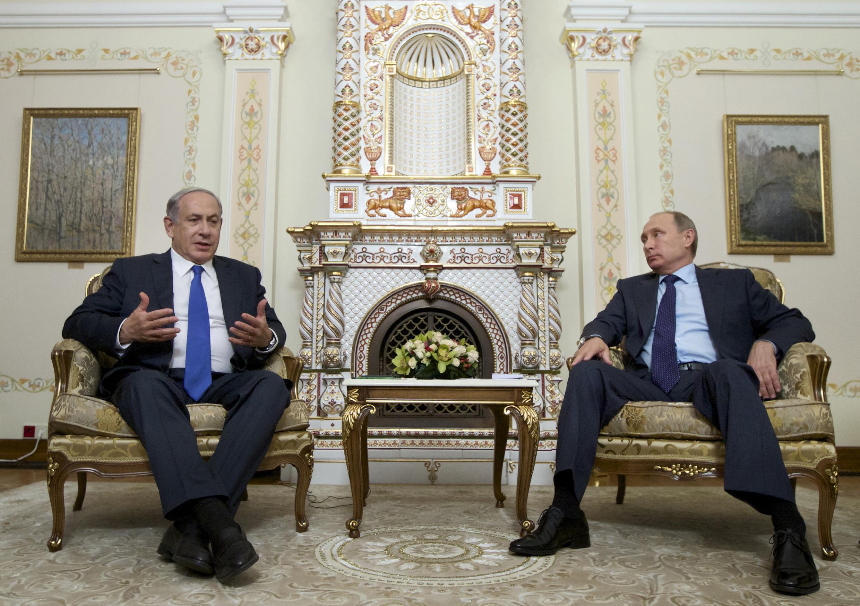 ملاقات امروز بنیامین نتانیاهو، نخست وزیر اسرائیل با ولادیمیر پوتین، رییس جمهوری روسیه در مسکو. ٣٠ شهریور/ ٢١ سپتامبر ٢٠١۵
