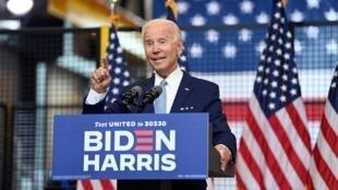 Le candidat Joe Biden en campagne à Pittsburgh, Pennsylvanie, le lundi 31 août 2020.