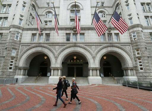 Open, but with few guests amid the coronavirus crisis: President Donald Trump's Trump International Hotel in Washington, just a few blocks from the White House