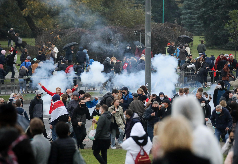 """""""Марш гордости"""" в Минске 11 октября 2020."""