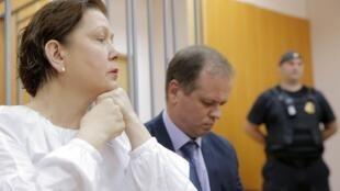 Экс-директор Библиотеки украинской литературы Наталья Шарина на заседании суда, Москва, 5 июня 2017 г.