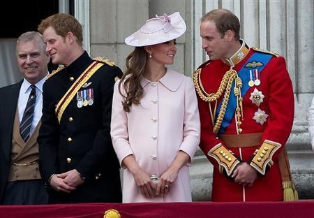 Герцогиня Кембриджская Кейт и ее супруг принц Уильям на торжественной церемонии