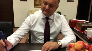 Igor Dodon, candidat à l'élection présidentielle moldave, le 13 octobre 2016