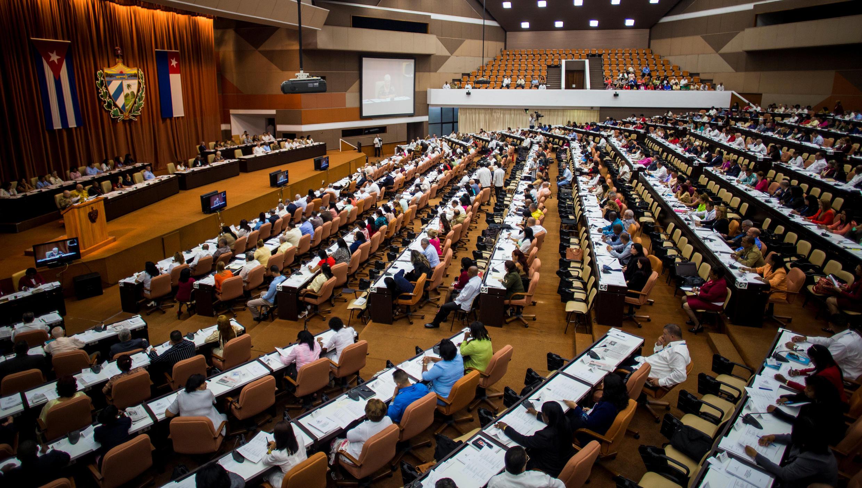 Một cuộc họp của đại biểu Quốc Hội Cuba ngày 02/06/2018.