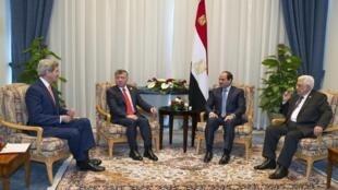 نشست چهار جانبه در مصر بر سر بحران فلسطین-اسرائیل