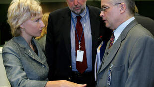 Кристина Оюланд с коллегами по Европарламенту в Брюсселе (архив)