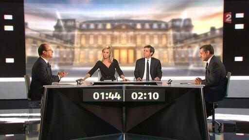 Dandalin Muhawarar da aka gudanar tsakanin Hollande da Sarkozy