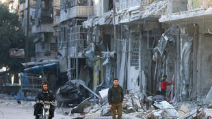 The effects of bombing on Aleppo east