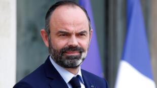 Le Premier ministre français Édouard Philippe à l'Élysée à Paris, le 19 février 2020.