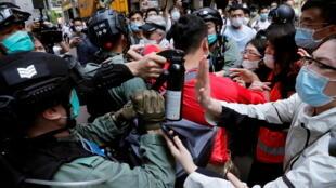 Hong Kong - manifestation - police