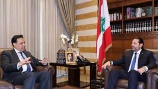 Le Premier ministre, Hassan Diab (à gauche) a promis de former un gouvernement de «spécialistes» tandis que les sunnites réclament le retour de Saad Hariri (à droite).
