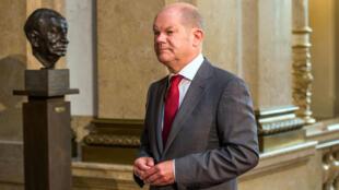 Olaf Scholz, alcalde Hamburgo 2017.