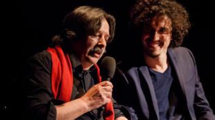 El traductor Jean Portante y el director Bertrand Marcos.