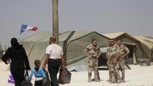 Le camp de réfugiés syriens de Zaatari, en Jordanie, où la France a installé un hôpital de campagne.