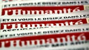 O pedido de recuperação judicial do jornal L'Humanité foi aceito pela Justiça francesa no último dia 7 de fevereiro..