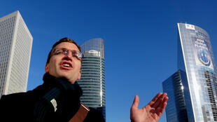 Olivier Petitjean shows Engie across from the French Environment Ministry at La Defense