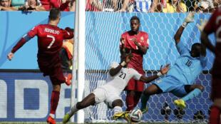 Cristiano Ronaldo marcou o golo de uma vitória amarga frente ao Gana