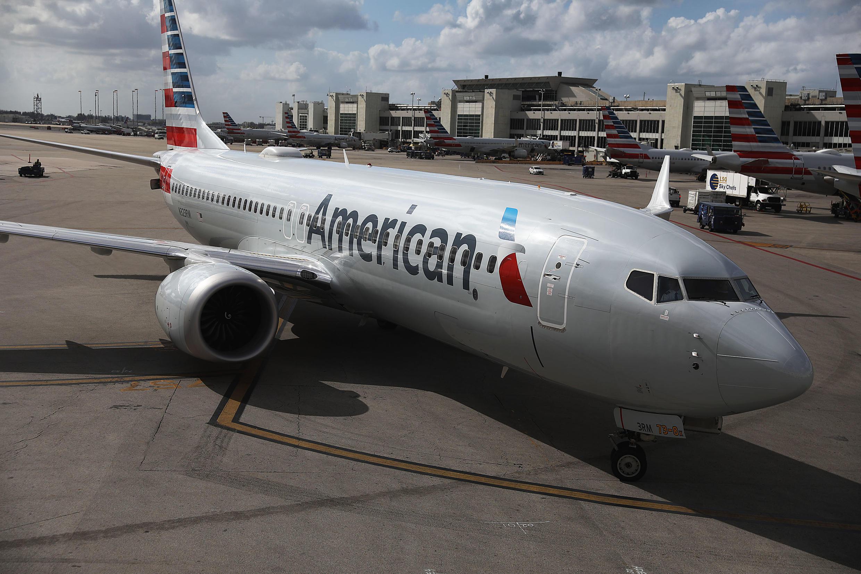 Ndege aina ya Boeing 737 MAX 8 baada ya kuwasili kwenye Uwanja wa ndege wa Miami, Florida Machi 13, 2019.
