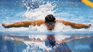 Michael Phelps in action at London Olympics.